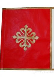 Bandera medieval en polipiel.
