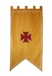 Estandarte medieval. <br> 60cm X 110 cm.