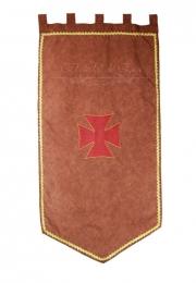 Estandarte medieval.<br> 60cm X 110 cm.