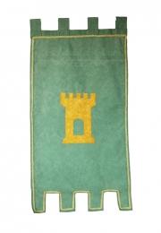 Estandarte medieval . <br>60cm X 110 cm.