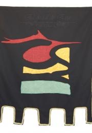 Estandarte medieval con logotipo