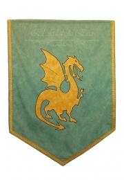 Estandarte medieval dragón <br>90cm x 70cm.