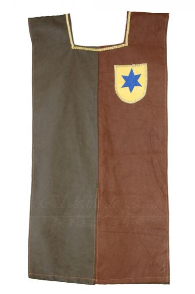 Sobrevesta bicolor verde marrón: estrella azul 55€