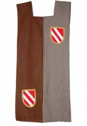 Sobrevesta bicolor: gris-marrón. 2 escudos 55€