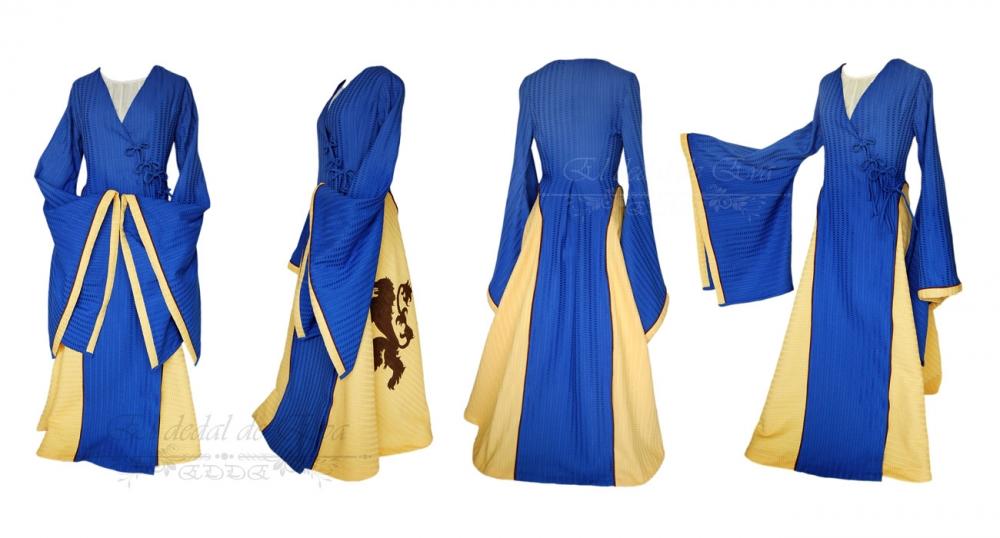 Vestido medieval Azul-Amarillo<br>vendido